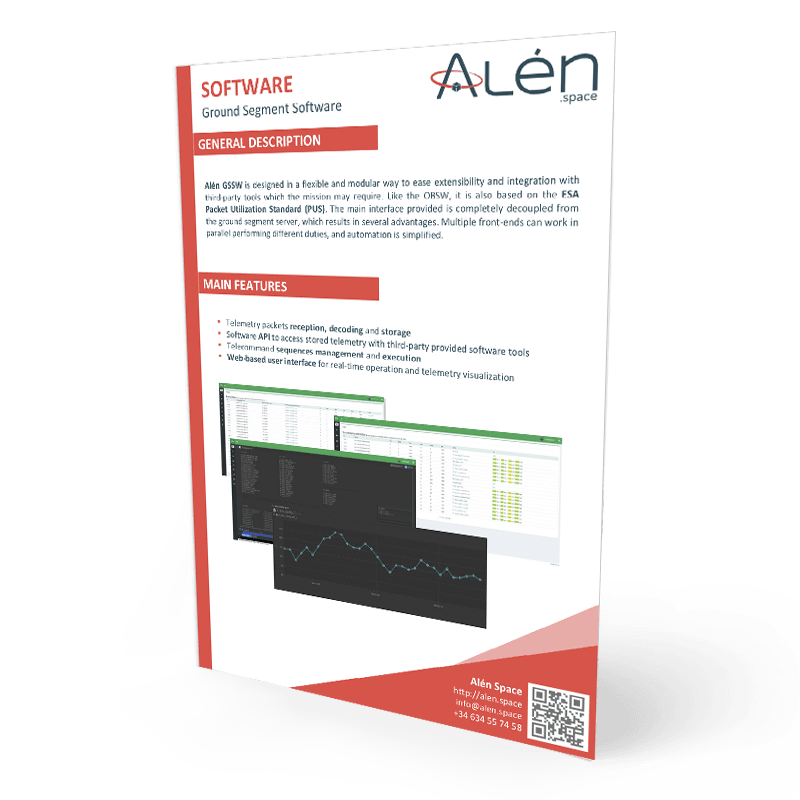 Alén Space Ground Segment Software