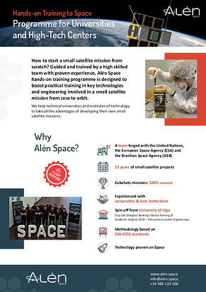 Hands-on Training to Space